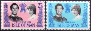 Isle Of Man. 1981. 194-95. princess Diana. MNH.