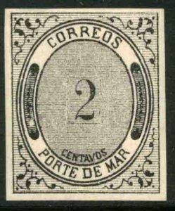 MEXICO JX9, 2¢ PORTE DE MAR. MINT, NH. VF.