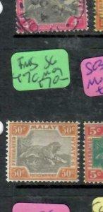 MALAYA  FMS (P1612B)    50C  TIGER  SG 47C   MOG