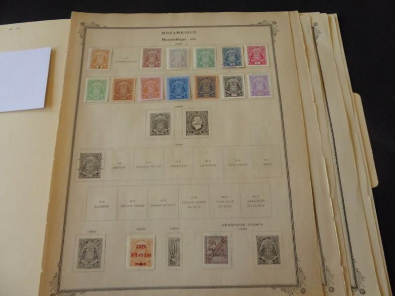Mozambique Company Mint to 1932 Stamp Collection on Scott Int Album Pages
