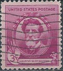 US 886 (used) 3¢ Augustus Saint-Gaudens (1940)