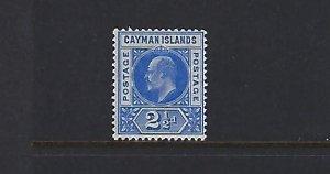 CAYMAN ISLANDS SCOTT #10 1905 EDWARD VII 2 1/2C (WMK 3)  - MINT NEVER HINGED