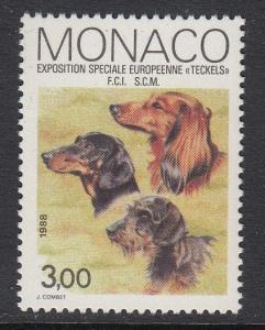Monaco 1621 Dog Show mnh
