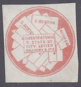 US Local Stamp scott #37L1 Forgery Unused NH VF