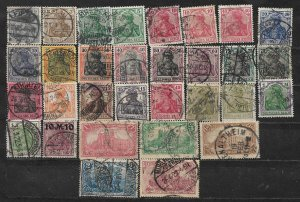 COLLECTION LOT OF 31 GERMANY  GERMANIA 1902+  CLEARANCE CV+ $ 50