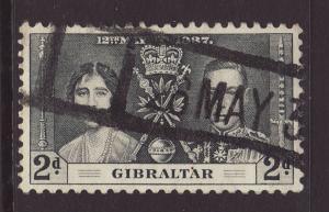 1937 Gibraltar 2d Coronation Goof/Fine Used