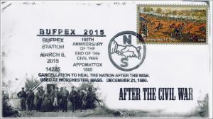 15-079, 2015, Bufpex 2015, Civil War, Pictorial Postmark, April 9,