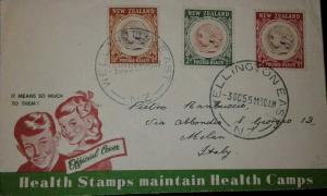 L) 1955 NEW ZEALAND, KING GEORGE THE FIFH MEMORIAL CHILDREN'S HEALT CAMPS FED, C