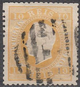 Portugal #35  F-VF Used CV $27.50 (A16427)