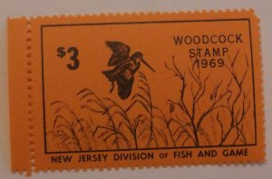 United States Revenue New Jersey Woodcock Hunting 1969 MNH