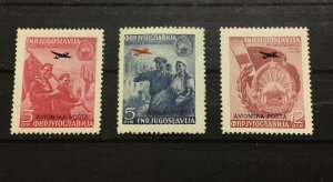 Yugoslavia Sc# C30-C32 Mint Never Hinged MNH Complete Set 1949