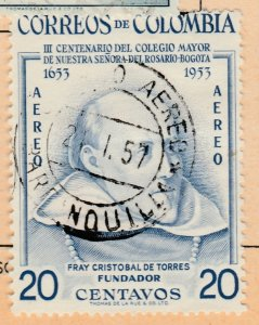 Colombia Air Post 1954 20c Fine Used A8P52F50