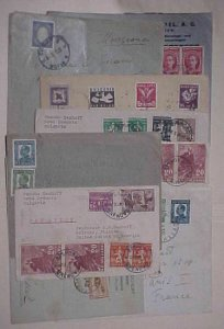 BULGARIA 9 SMALL COVERS 1930's-1940's 4 TO USA ,ALL FOREIGN DESTINATION