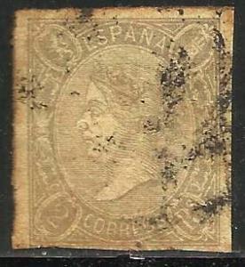 Spain 1865 Scott# 72 Used