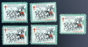US #WX61-63 ??? LOT - (One MNH the rest MH) Christmas Seals (c1931) [R526]