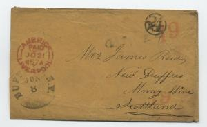 1857 Buffalo NY transatlantic stampless to Scotland 24 in circle rate [3274]