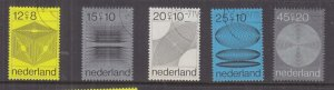 NETHERLANDS, 1970 Social Welfare Funds set of 5, used.