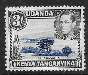 KENYA, UGANDA & TANGANYIKA SG147 1938 3/= DULL ULTRAMARINE & BLACK p13x11.75 LMM