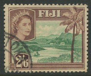 STAMP STATION PERTH Fiji #159 QEII Definitive Issue Used 1954 CV$0.75