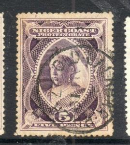 Niger Coast 1894-97 Early Issue Fine Used 5d. 303820