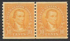 Doyle's_Stamps: VF MNH Coil Pair Scott #603** of 1924