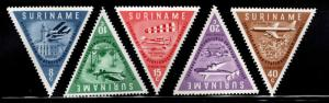 Suriname Scott 277-281 MNH** Aviation stamp set