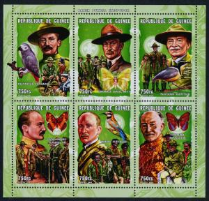 Guinea 1939 MNH Scots, Baden-Powell, Birds, Butterflies