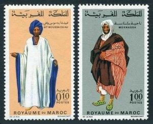 Morocco 198A,204A,MNH.Michel 661-662. Regional Costumes,12.10.1969.