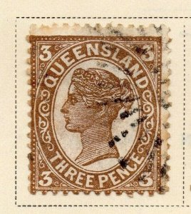 Queensland 1897-1900 Early Issue Fine Used 3d. 326849