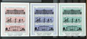 Barbuda 1981 #493-5, MNH, CV $9