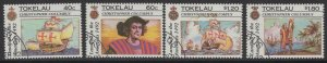 TOKELAU ISLANDS SG193/6 1992 DISCOVERY OF AMERICA BY COLUMBUS FINE USED