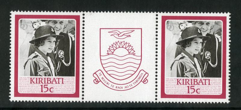 KIRIBATI 470 PAIR MNH BIN $0.50 QUEEN MOTHER