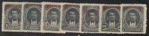Ecuador - 1895 - SC O27-33 - LH/H - Complete set