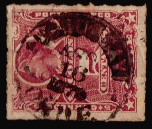 CHILE PUCHUNCAVI AGO-1879 SON CANCEL USED STAMP