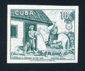 1959 Cuba Plate Proof MNH - Stamp Never Issued - Estimated 80 Known - RARE!