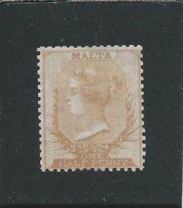 MALTA 1863-81 ½d DULL ORANGE  MM SG 7 CAT £300