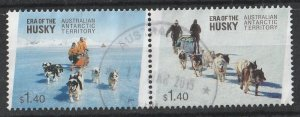Australian Antarctic 2014 Husky's 2$ (2/4) Pair USED
