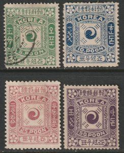 Korea 6-9 complete set most MH with disturbed gum (6 is used)