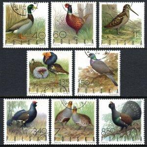 Poland 1720-1727, CTO. Game Birds.Mallard drake,Woodcock,Ruffs,Wood pigeon,1970