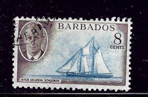 Barbados 221 Used 1950 Ship    #2