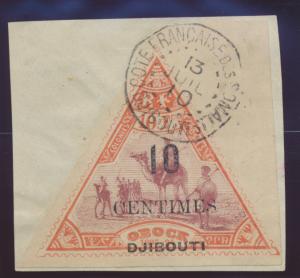 Somali Coast (Djibouti) Stamp Scott #32, Used - Free U.S. Shipping, Free Worl...