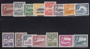 Antiqua Scott #'s 107 - 121 VF lightly hinged nice colors cv $ 69 ! see pic !