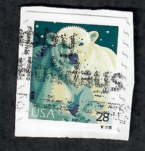 US #4389 Polar Bear Used PNC Single #V11111