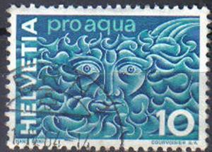 SWITZERLAND, 1966-75, used 10c. ProAqua