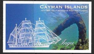 CAYMAN ISLANDS SGSB37 2013 SHIPWRECKS & ANCHORS BOOKLET MNH