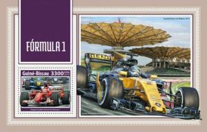 Guinea-Bissau - 2018 Formula 1 Racing - Stamp Souvenir Sheet GB18203b