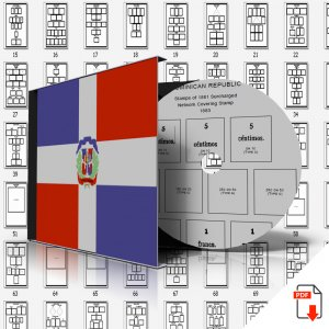 DOMINICAN REPUBLIC STAMP ALBUM PAGES 1865-2011 (281 PDF digital pages)