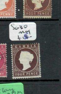 GAMBIA  (P2308BB) QV 4D   SG 30   MOG