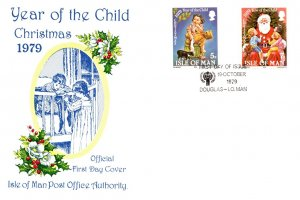 Isle of Man, Worldwide First Day Cover, Christmas