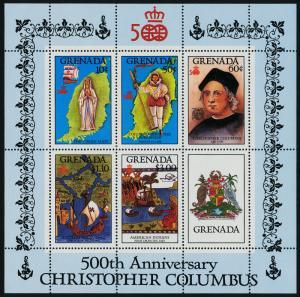 Grenada 1503a MNH Christopher Columbus, Map, Shp